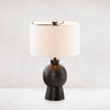 Keli Table Lamp - Textured Black Aluminum