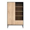 Oak Blackbird Lined Storage Cabinet