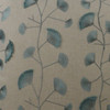 Neutral Linen Fabric with Teal Organic Fan Down Pillow