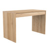 Light Oak Wave Office Desk with Storage Drawer