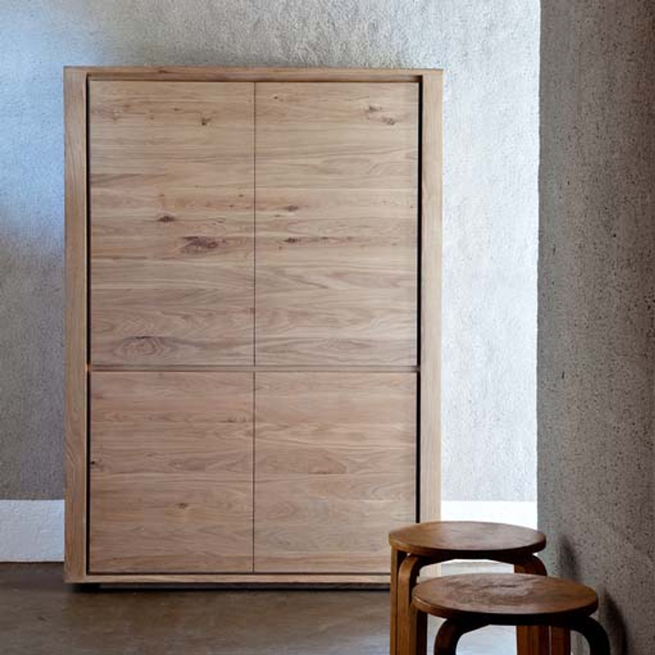 Light Oak Sartore Tall Storage Cabinet
