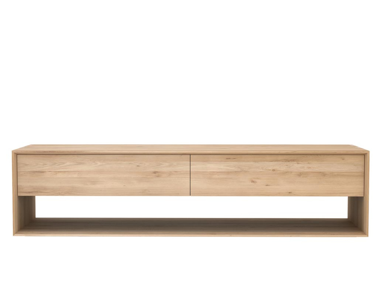 Oak Nordic TV Media Cabinet with Drawers