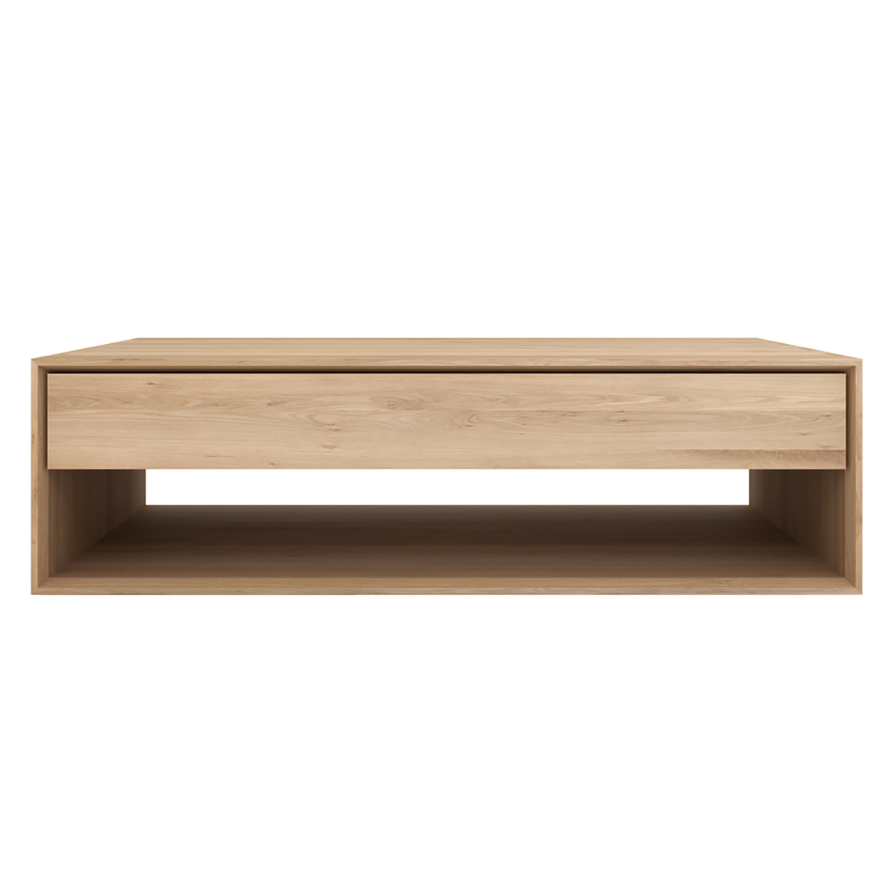 Light Oak Nordic Coffee Table with Storage