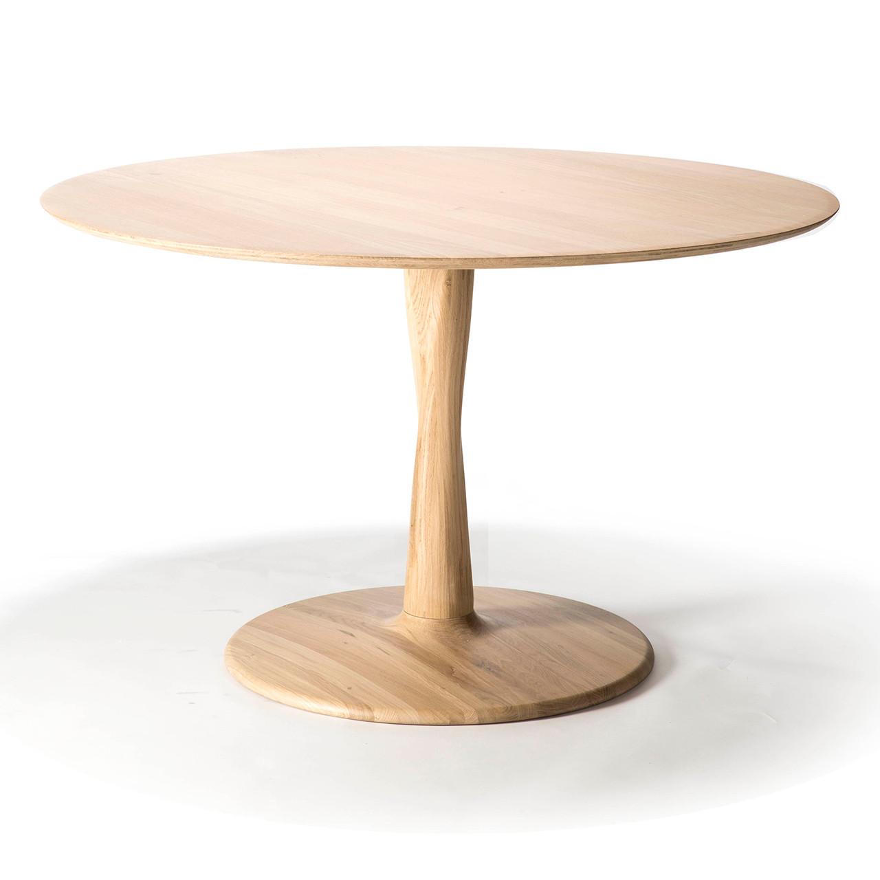 Oak Torsion Round Dining Table