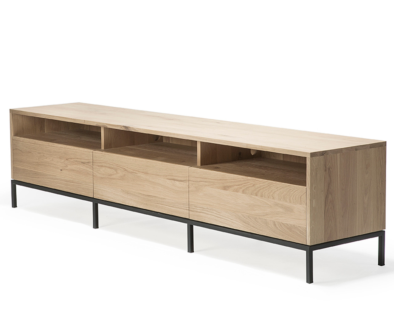 Oak Ligna TV Stand Media Cabinet