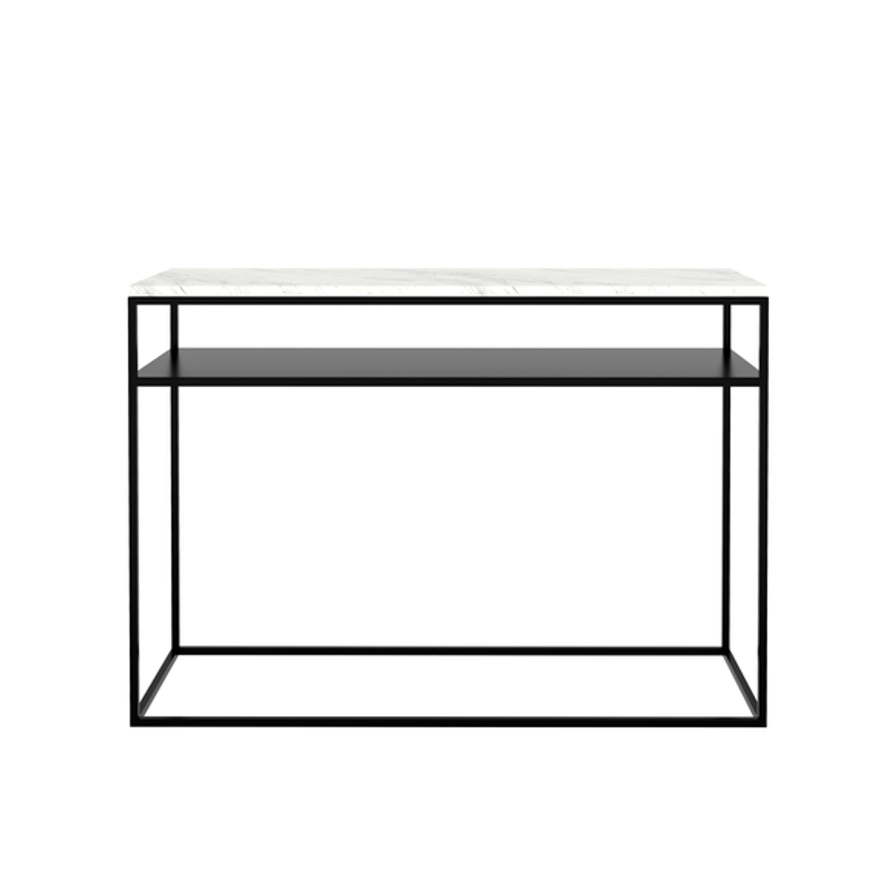 White Marble Stone Console Table with Shelf