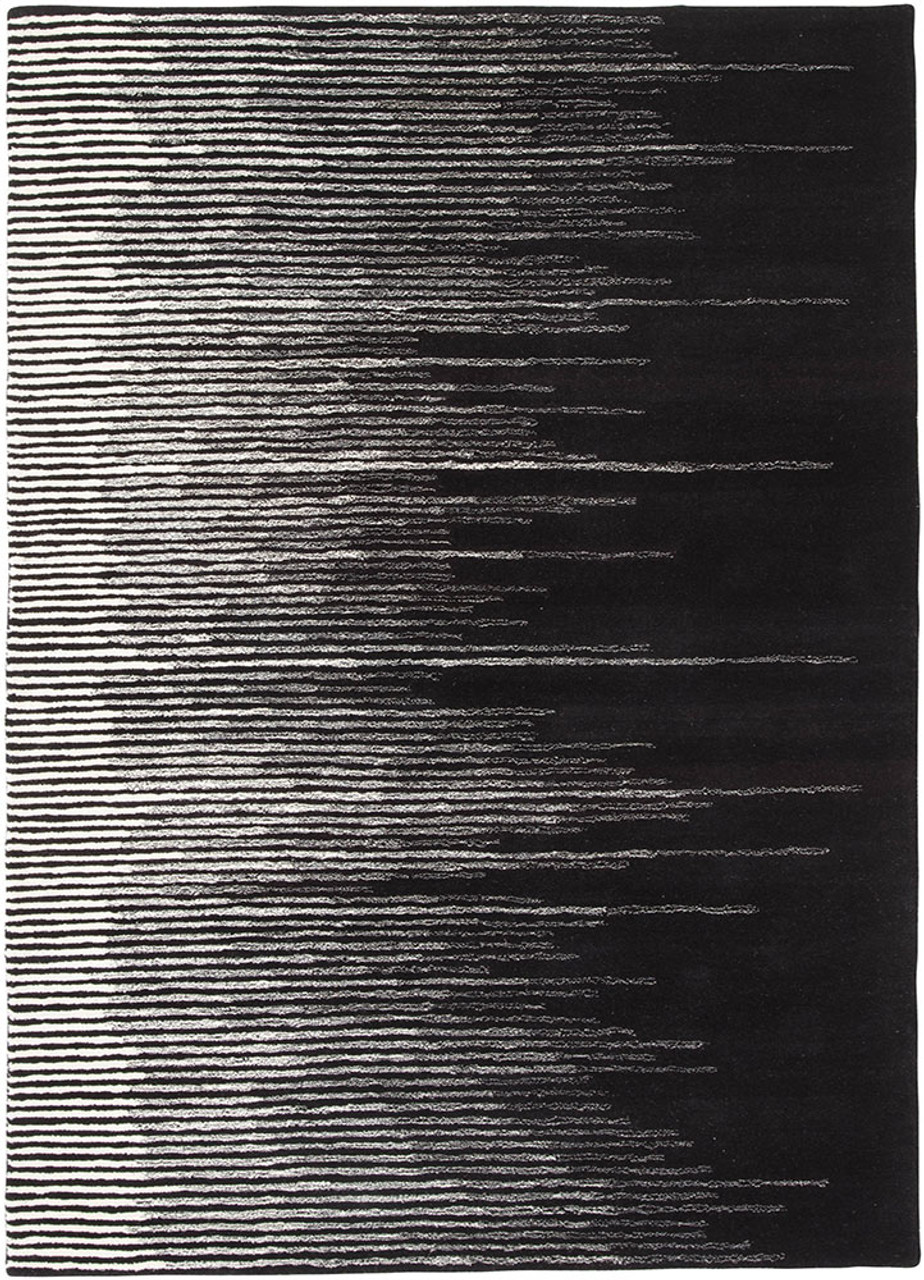 Black White Bristol Area Rug