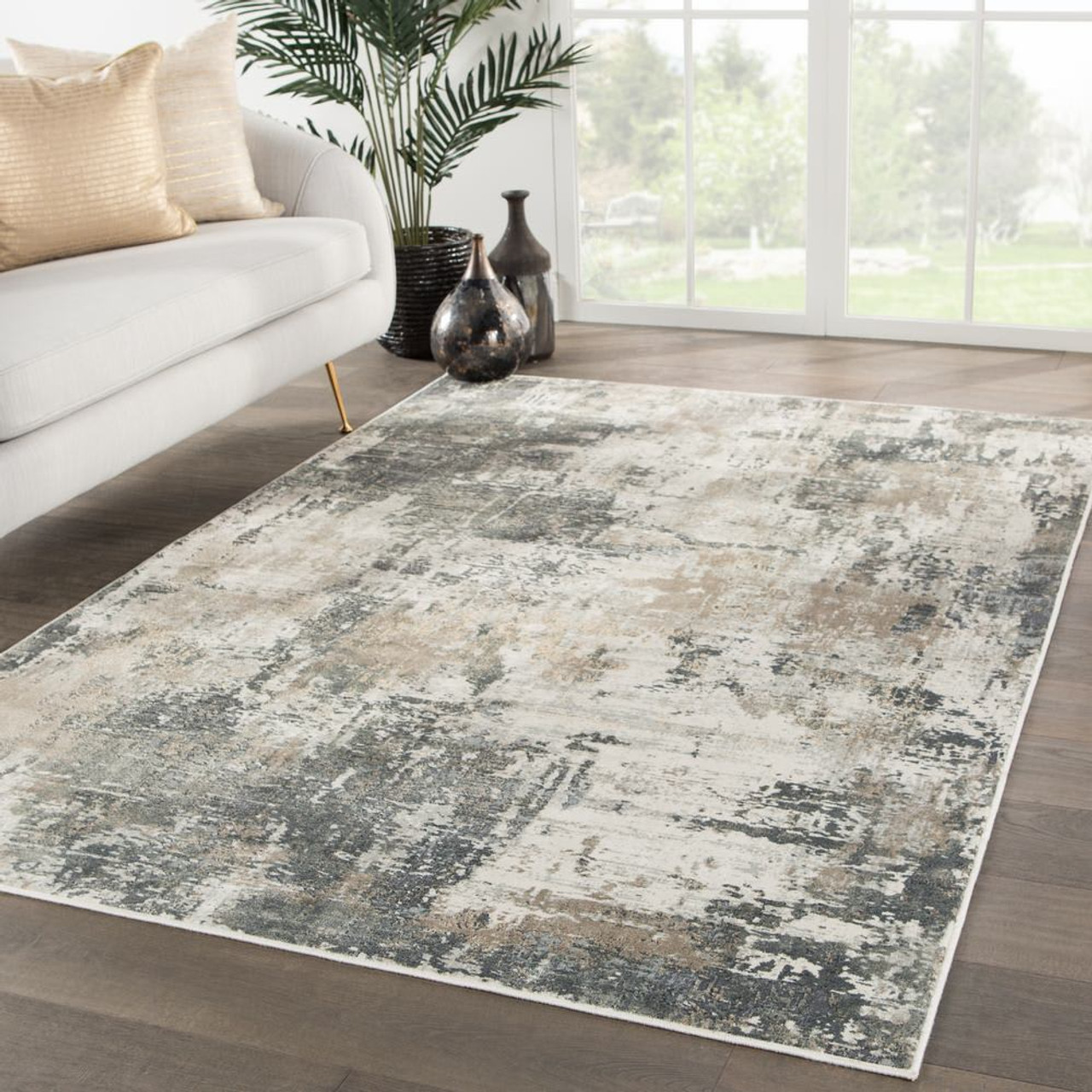 Picture of: Rosario Area Rug Gray Umber