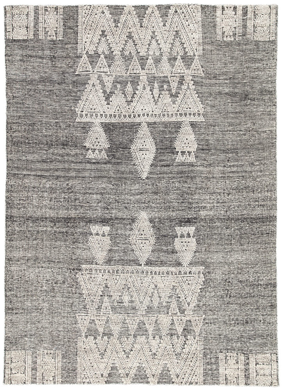 Torry Flat Weave Area Rug - Grey