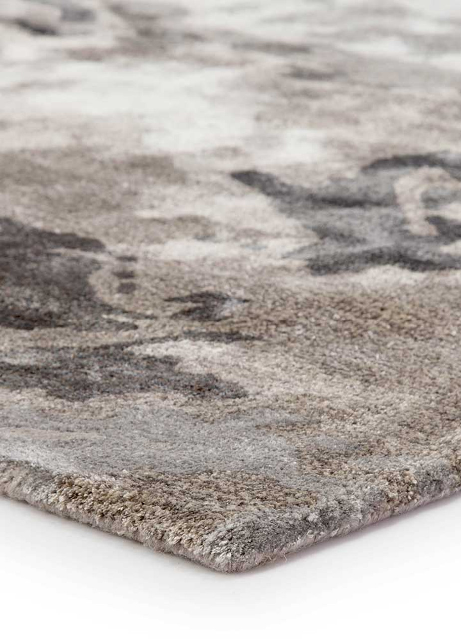 Fluid Transcend Warm Grey Hand-Knotted Area Rug