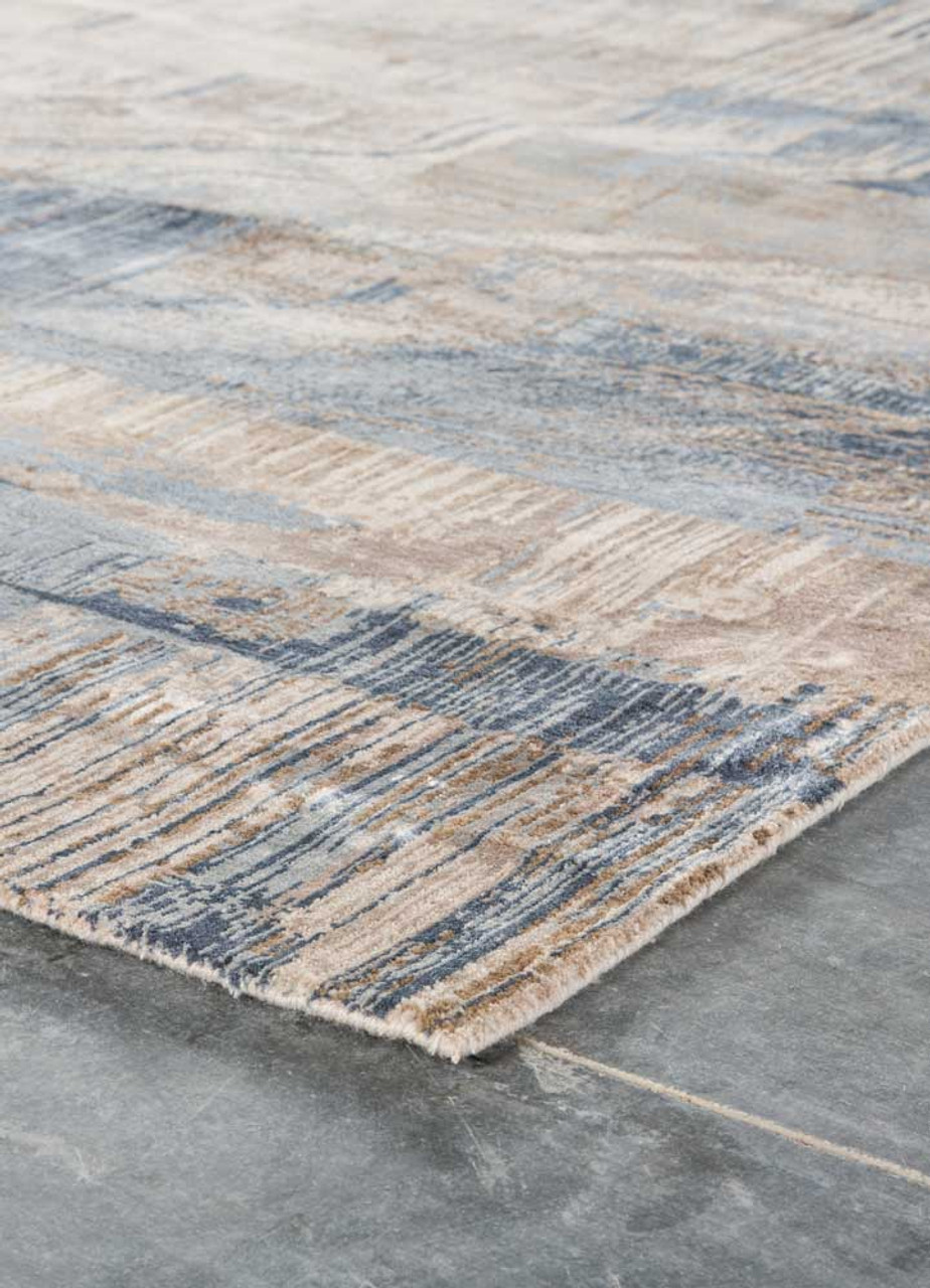 Unstring Blue Rug Collection by Kavi