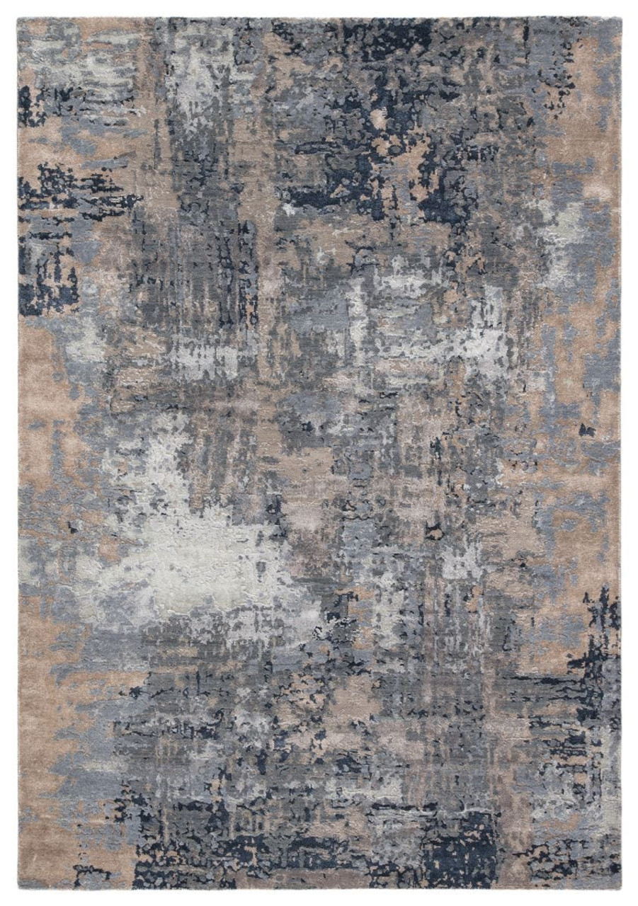 Project Error Navy Rug by Kavi