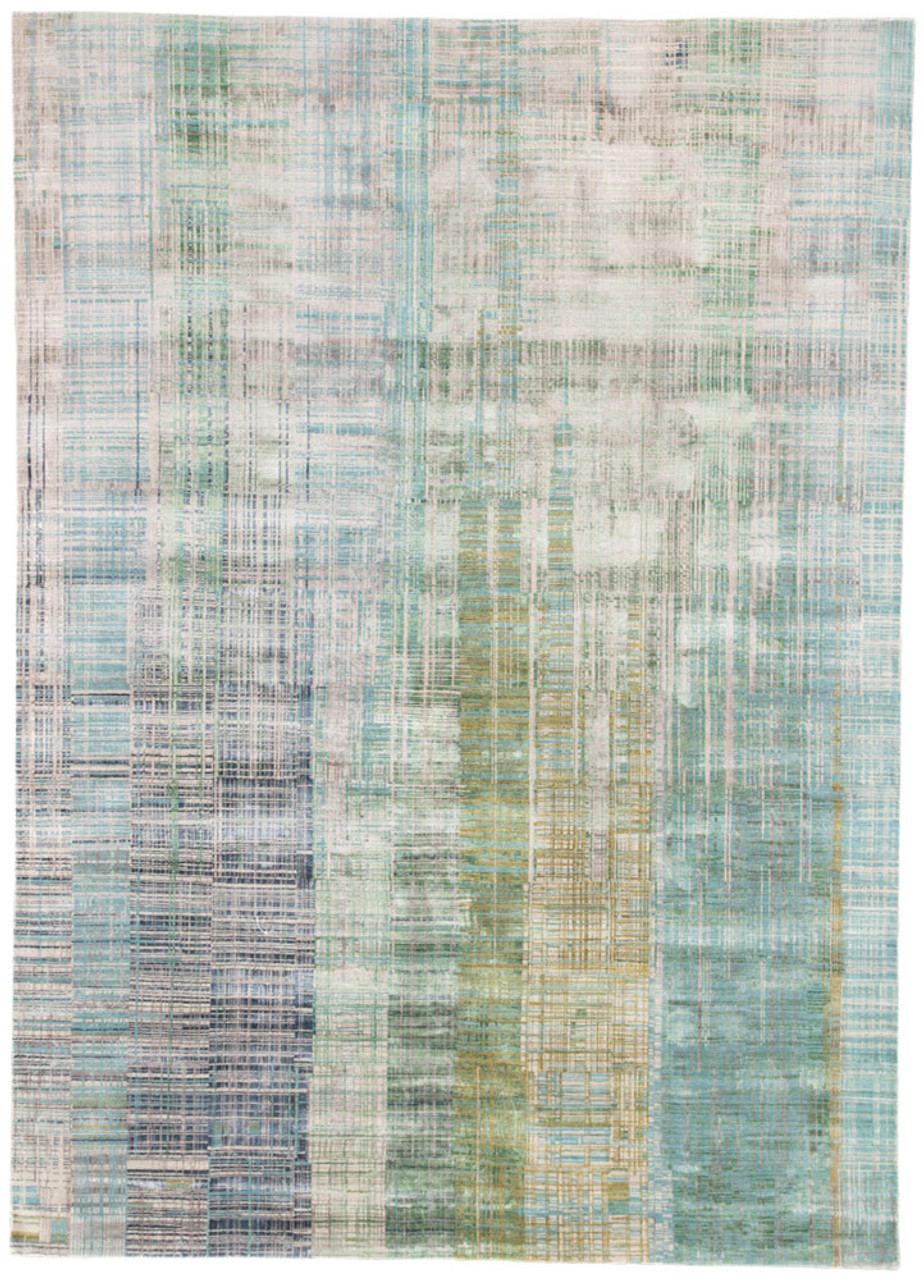 Unstring Blue Green Rug Collection by Kavi