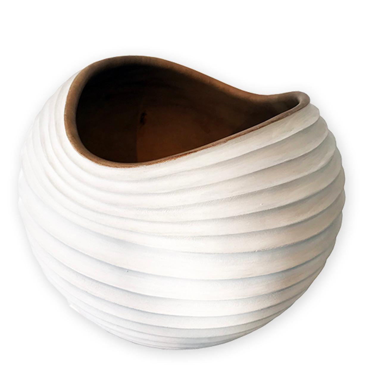 Tamarind Wood Dune Bowl Collection - White