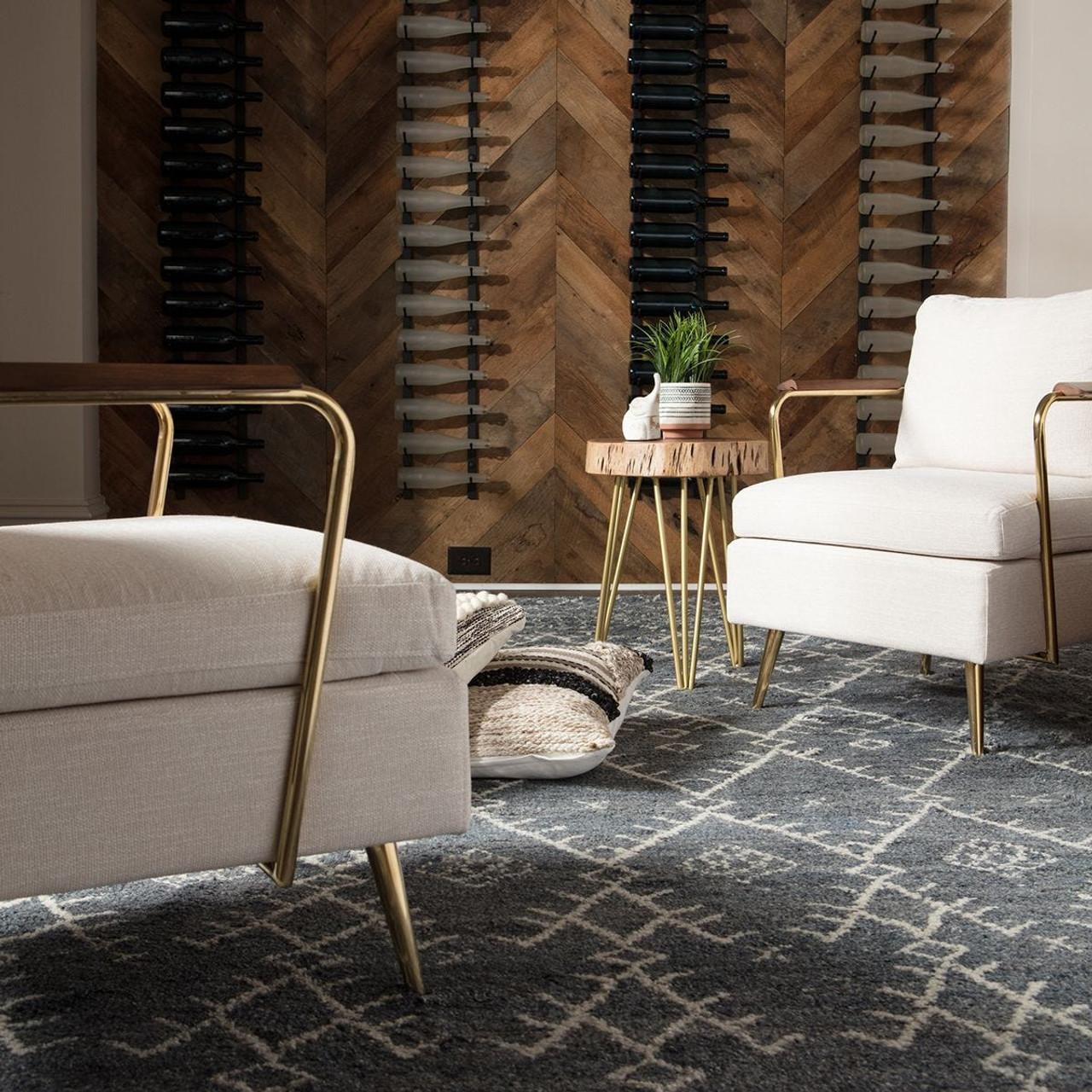Marrakesh Wool Area Rug - Cool Grey