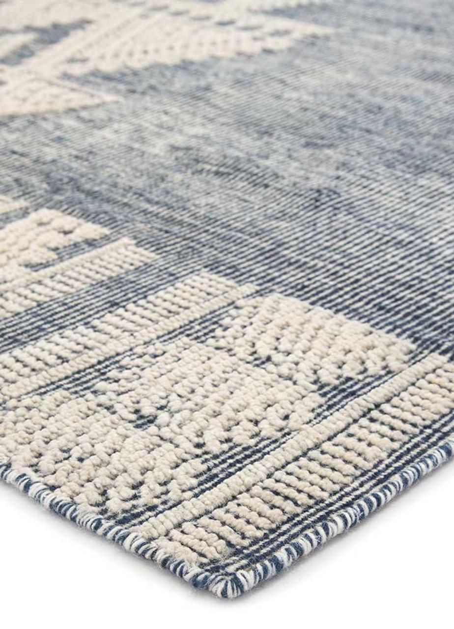 Torbsy Flat-weave Blue Area Rug
