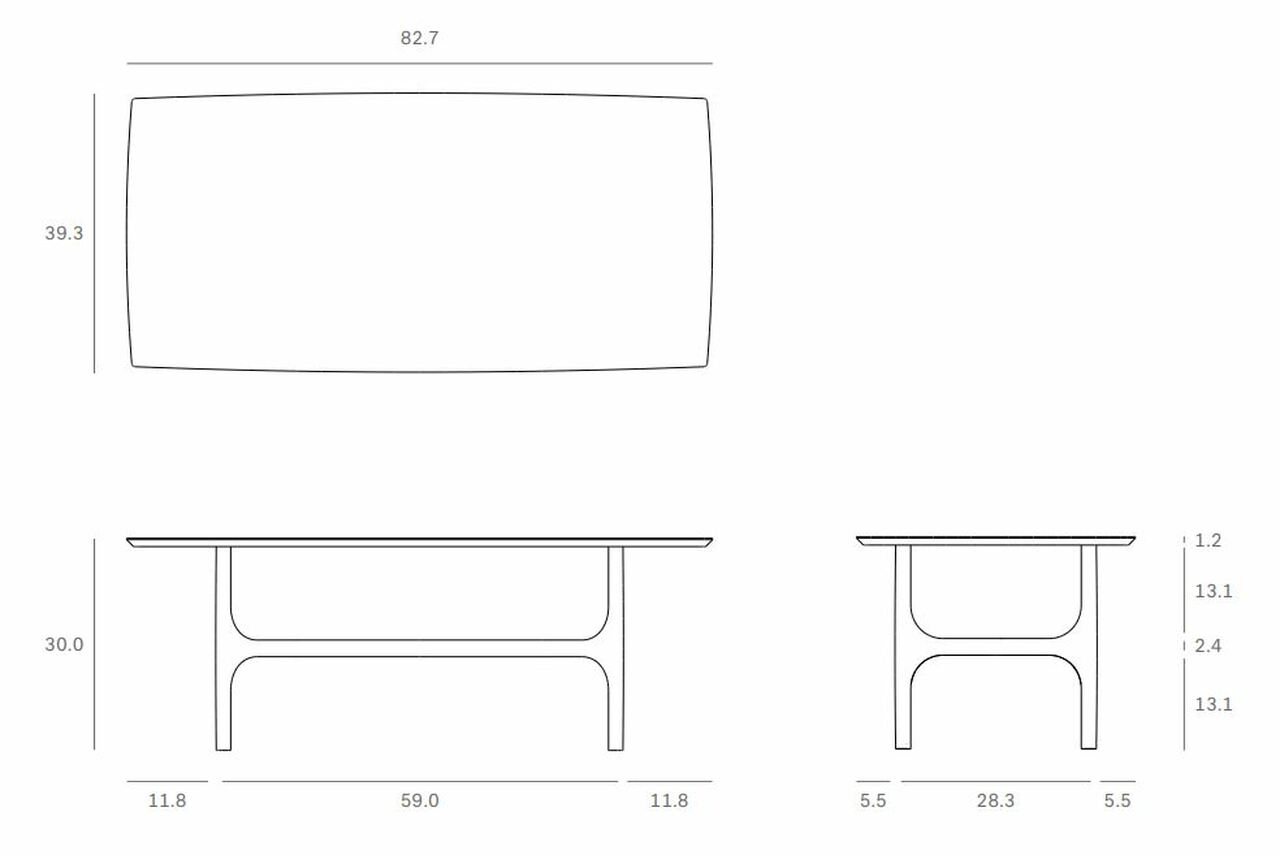 Light Oak Nexus Trestle Dining Table