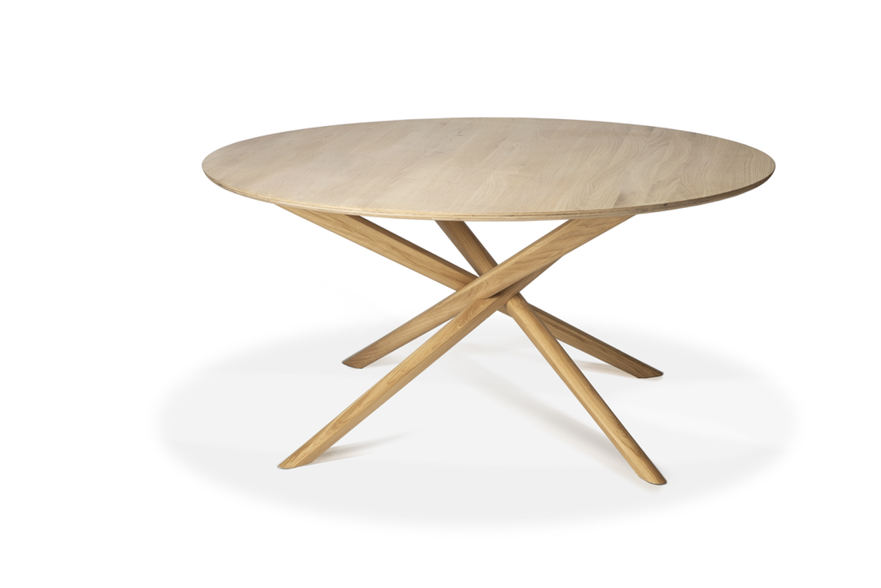 "Light Oak Mikado Dining Table - 59"" Round"