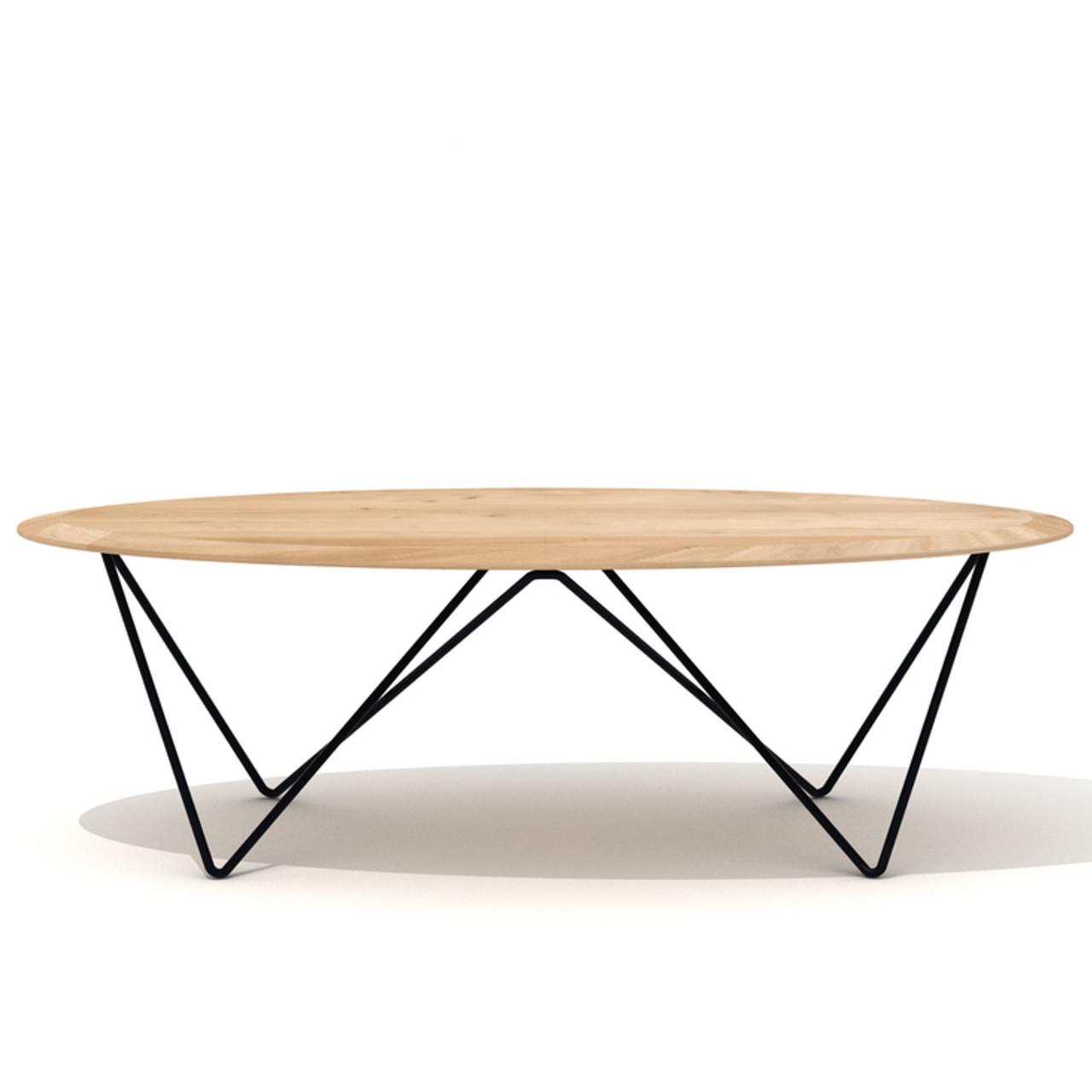 Casbah Oak Orb Oval Coffee Table