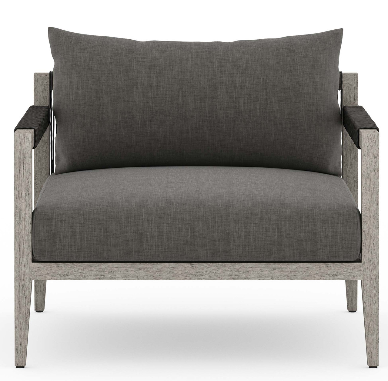 Silhouette Outdoor Lounge Chair, Weathered Grey