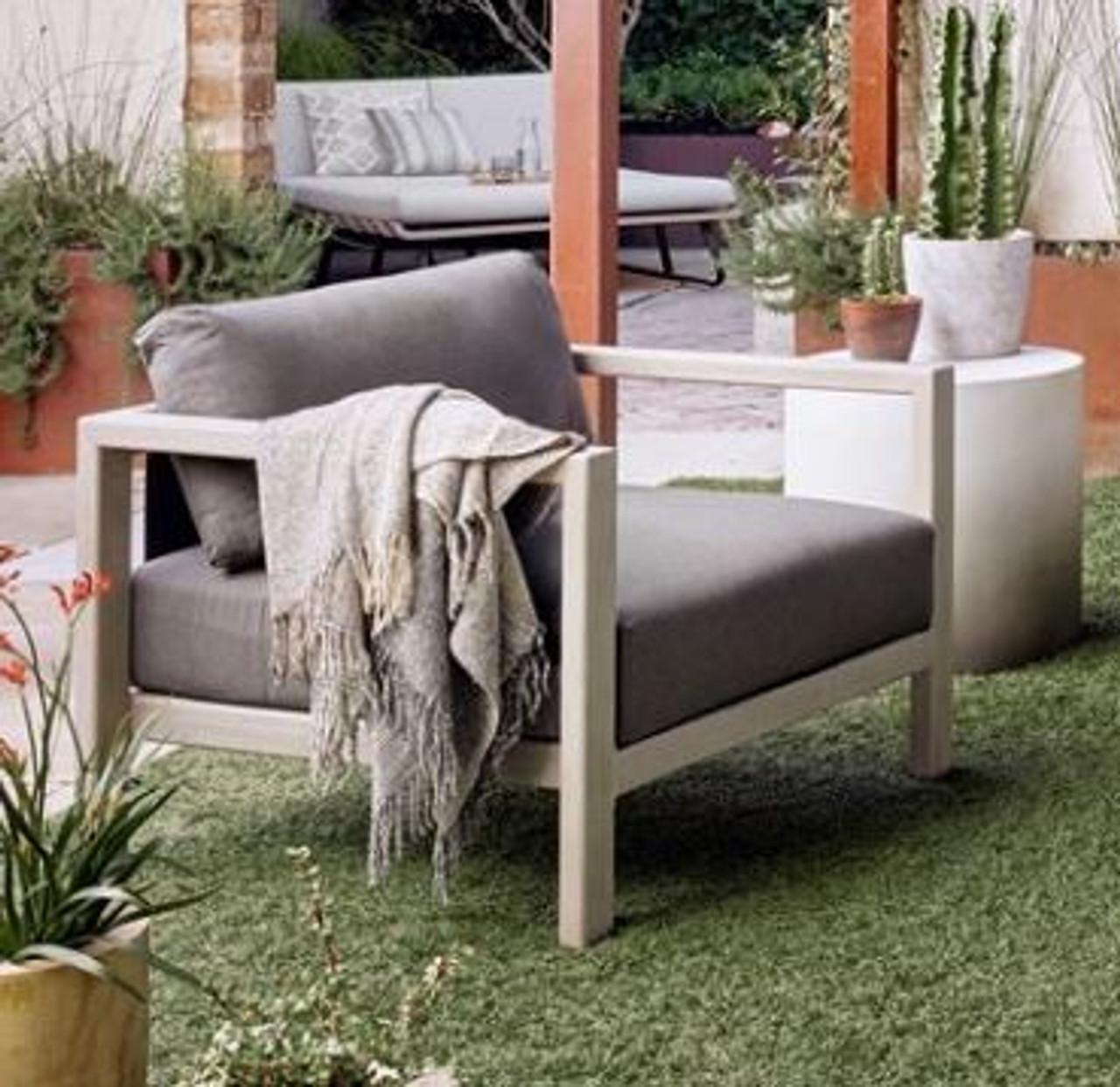 Oceanside Outdoor Teak Lounge Chair - Weathered Grey
