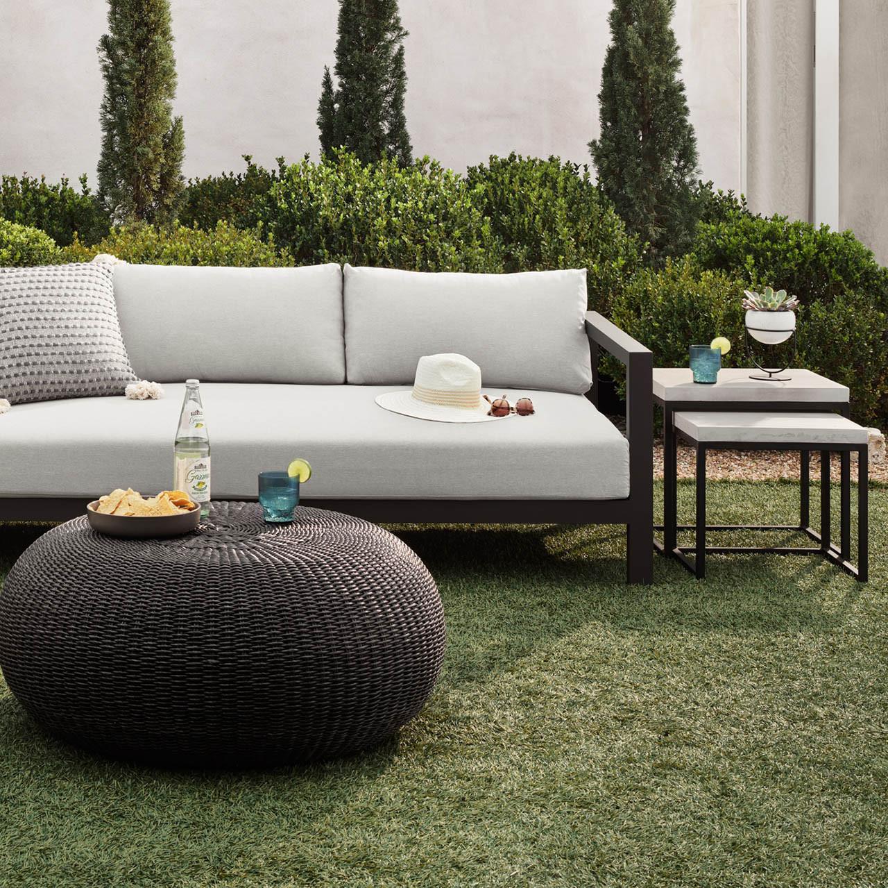 Mason Concrete Outdoor Nesting Side Tables