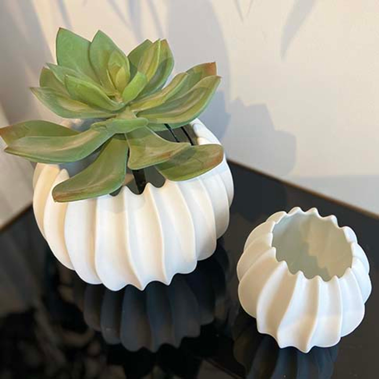 Neptune Botanical White Porcelain Pot - Various Sizes