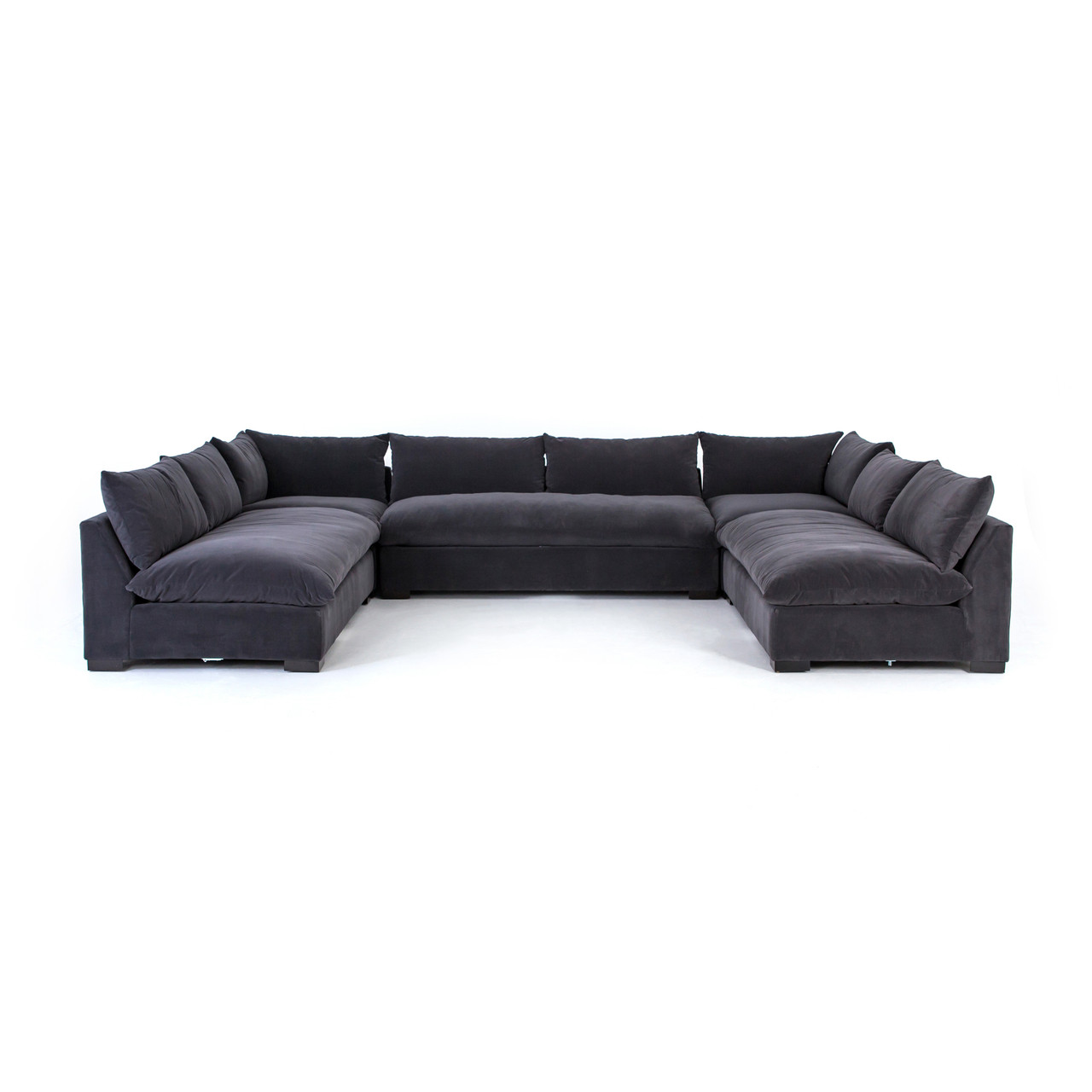 Grant Cloud Armless Sectional Collection - 5 Piece