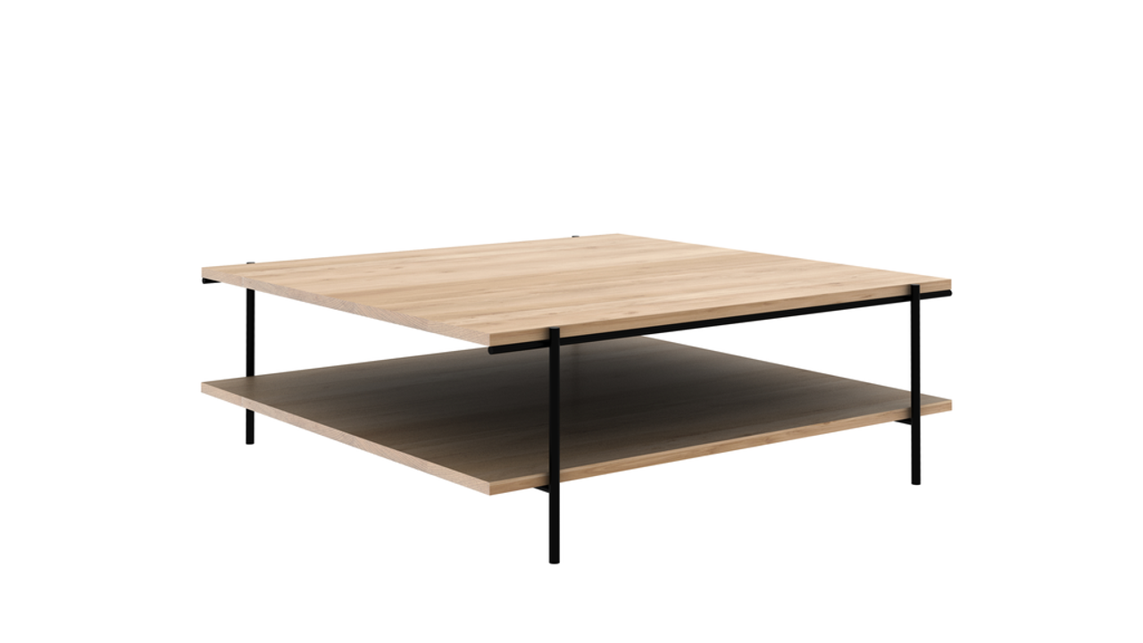Oak Rise Coffee Table with Shelf - Various Sizes