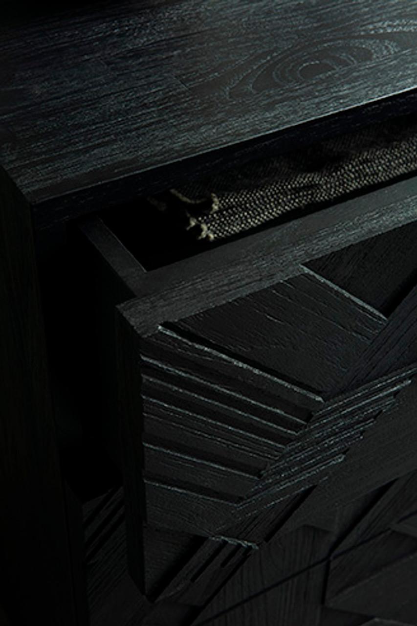 Darbuka Black Teak Dresser
