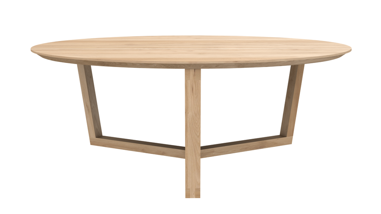 Solid Oak Round Tripod Coffee Table