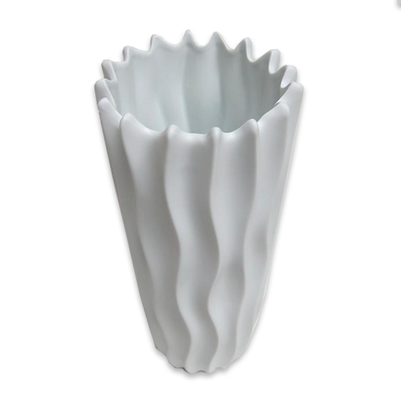 Neptune White Porcelain Vase Tall