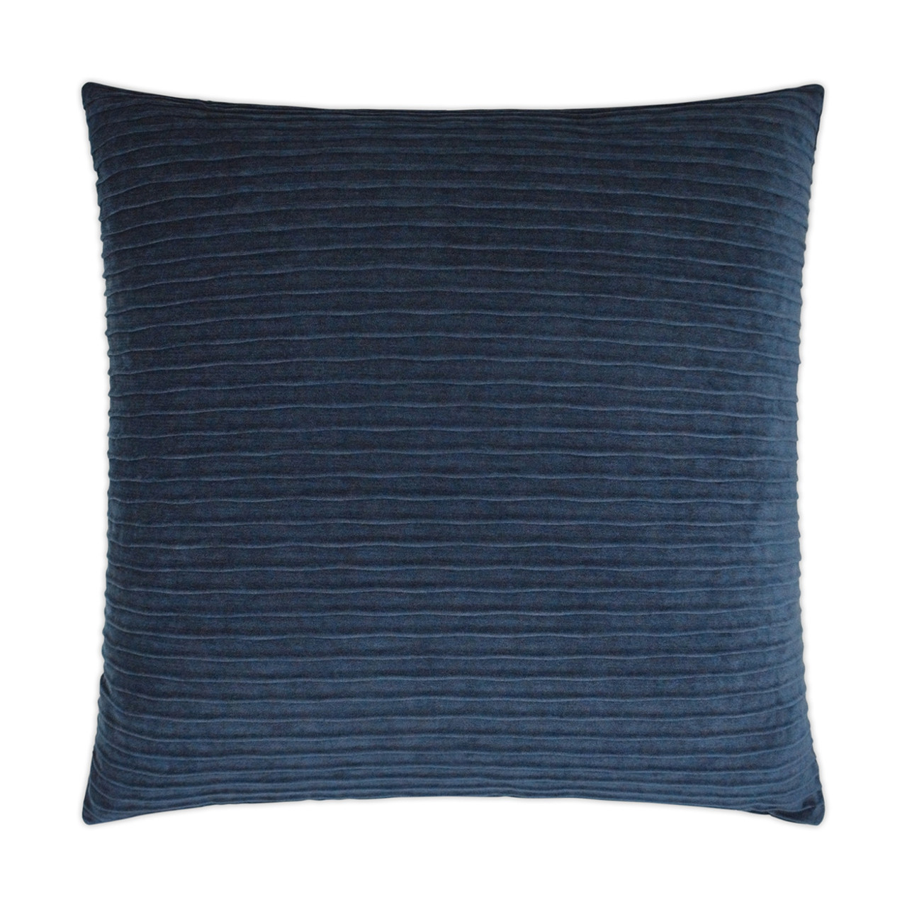 Pleatte Throw Pillow - Navy Blue