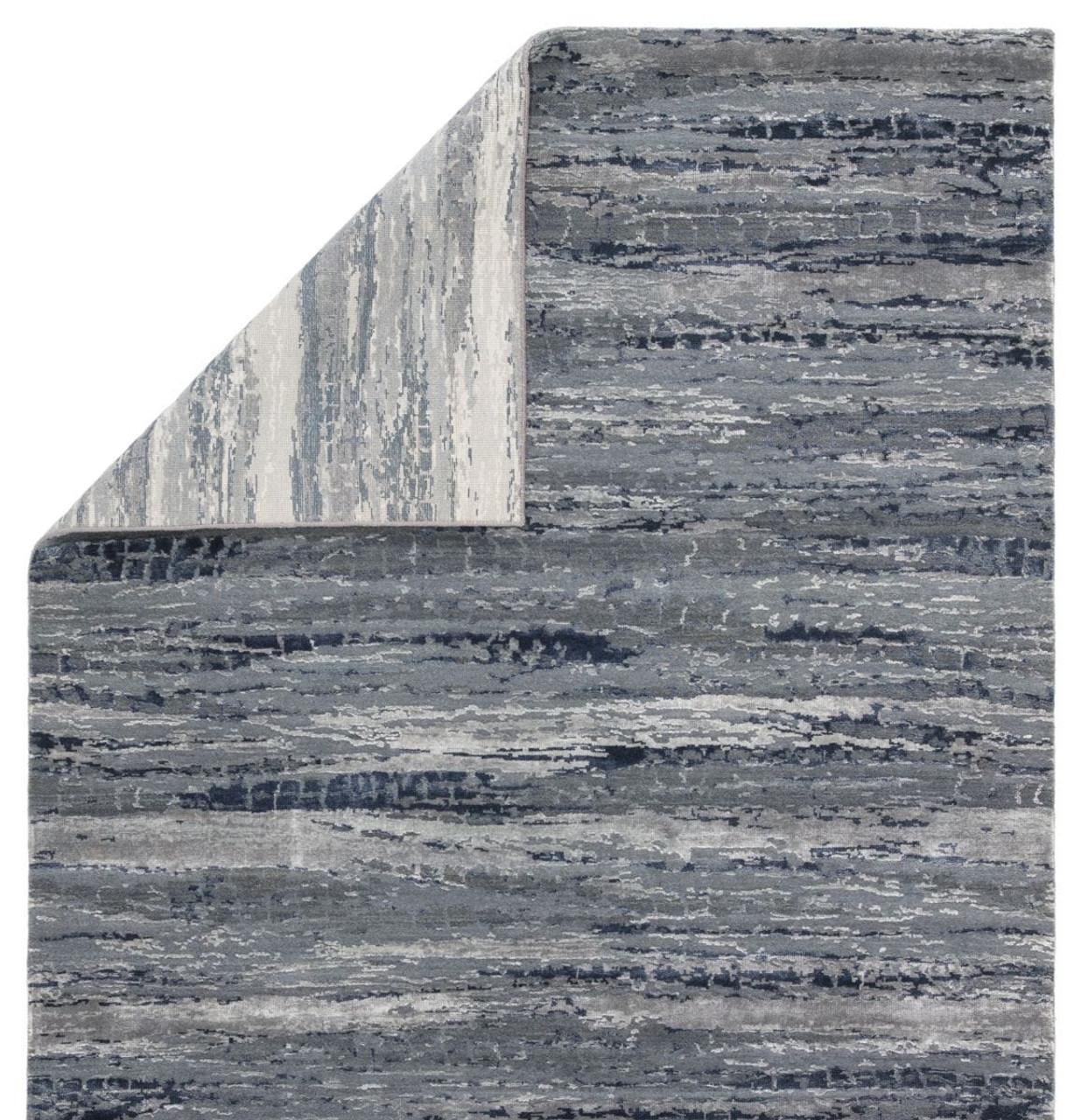 Theory Bandi Blue Grey Area Rug