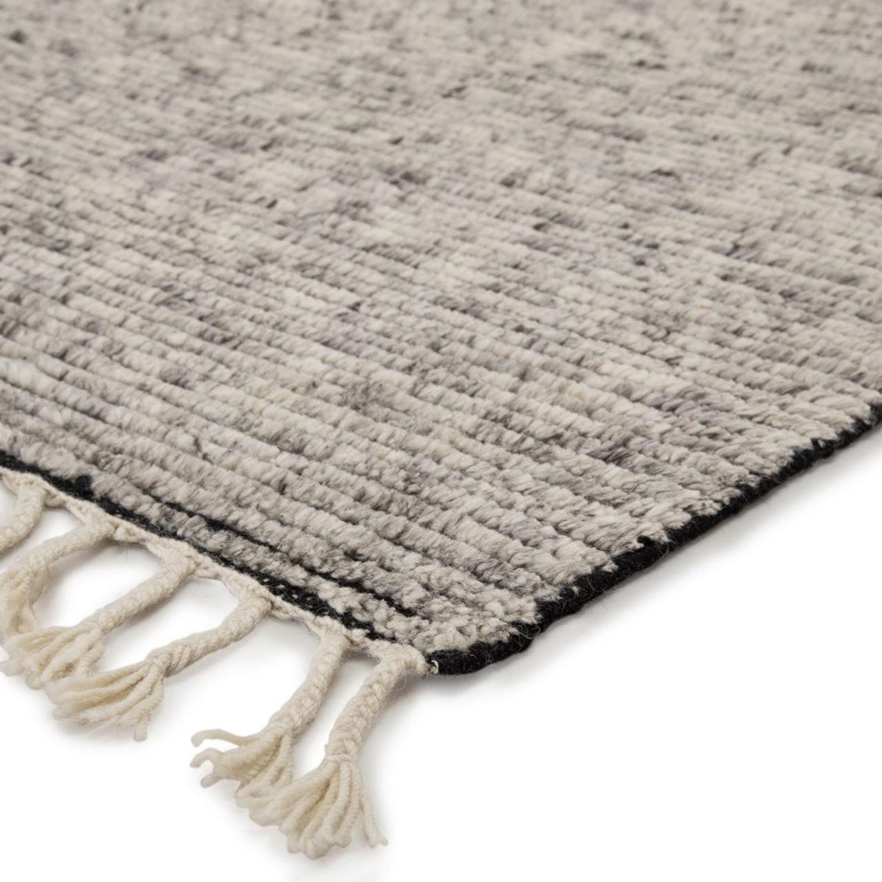 Alpine Wool Area Rug with Braided Fringe