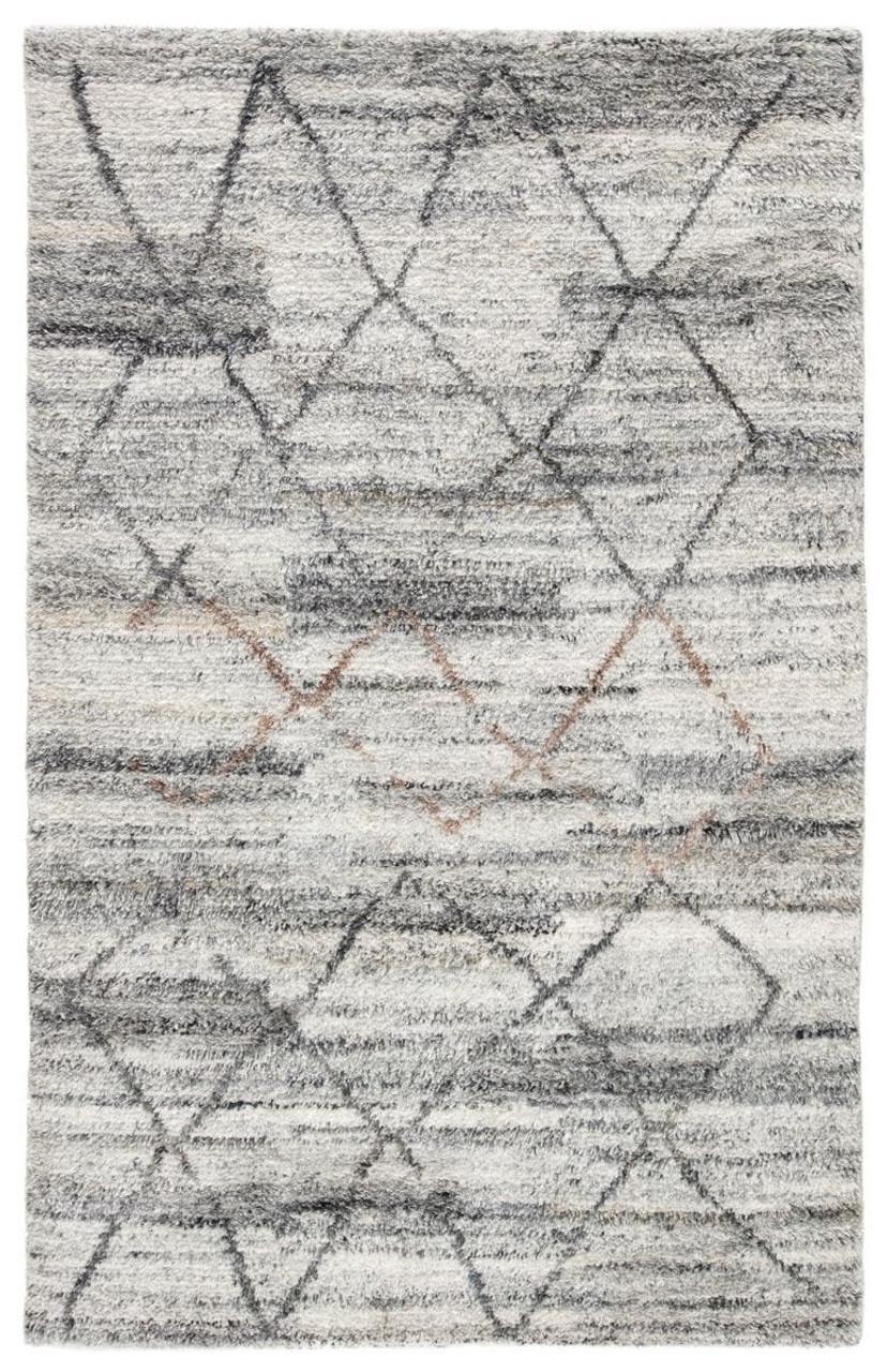 Kasey Striated Gray Moroccan Rug