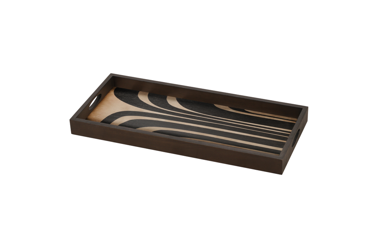 Graphite Curves Driftwood Tray