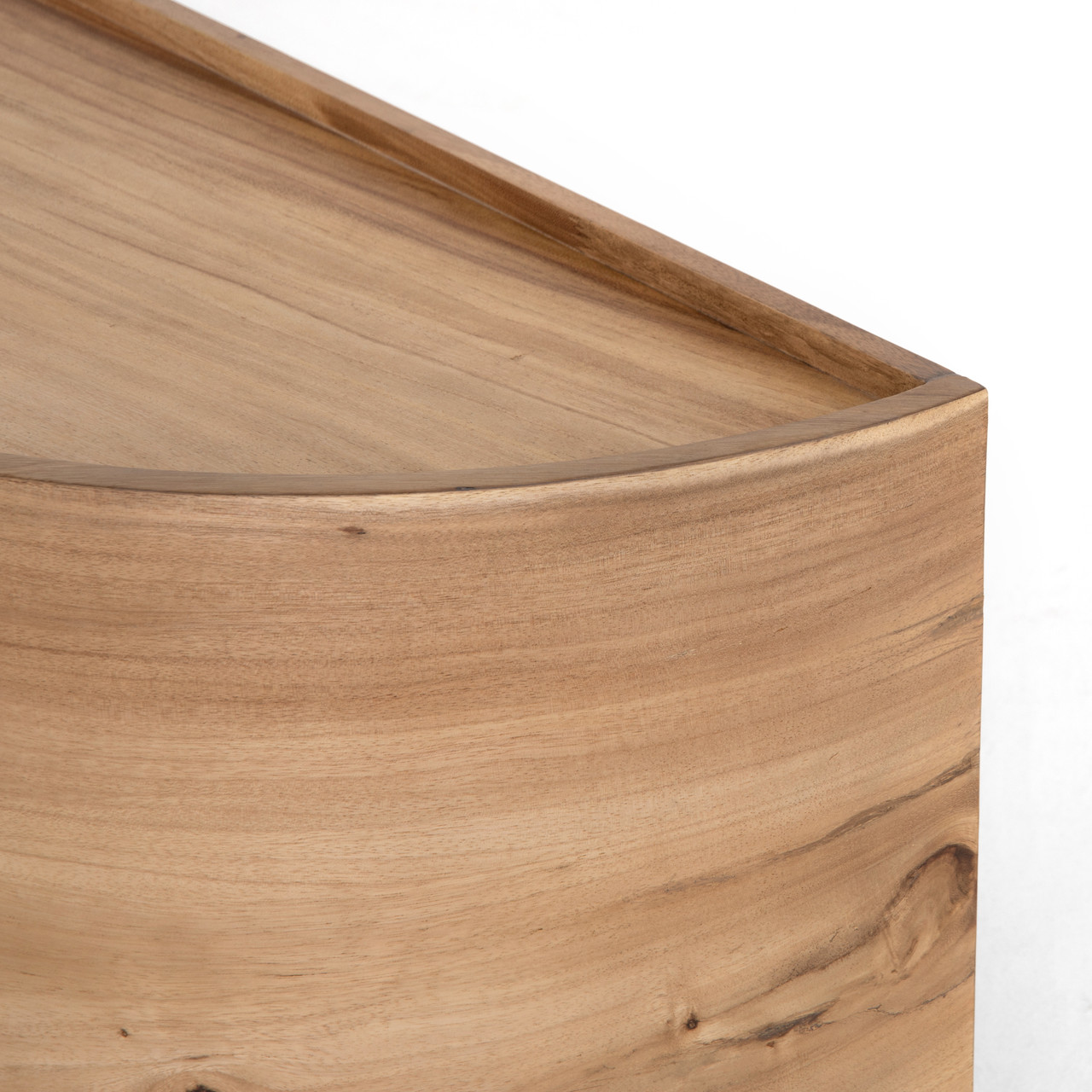 Natural Blond Guanacaste Low Media Console