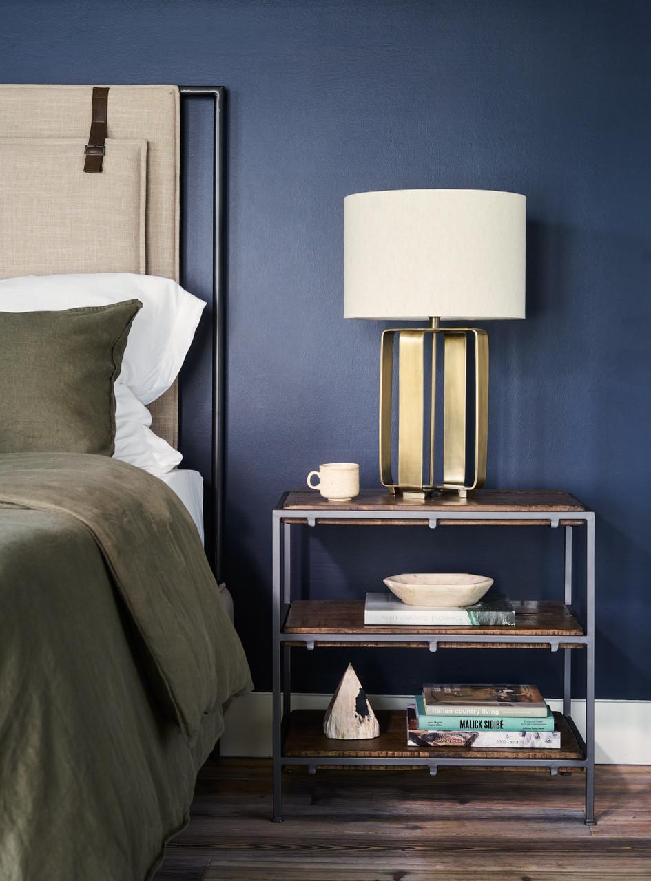 Harrison Safari Metal Frame Upholstered Bed