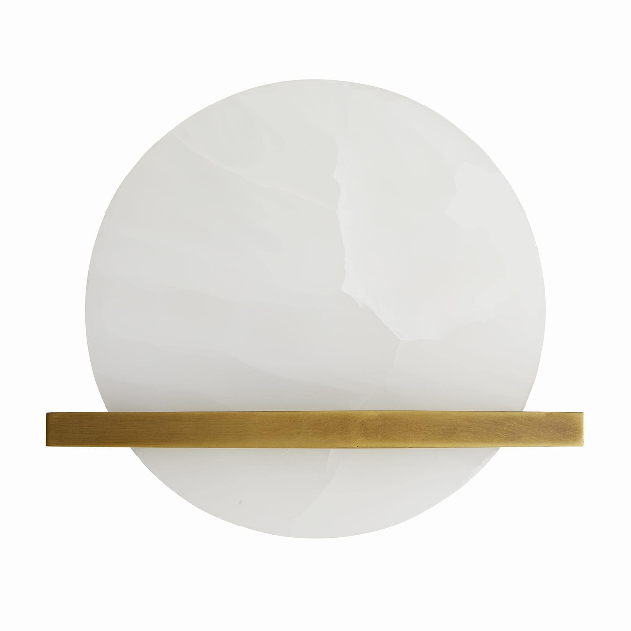 Onyx Sconce Antique Brass