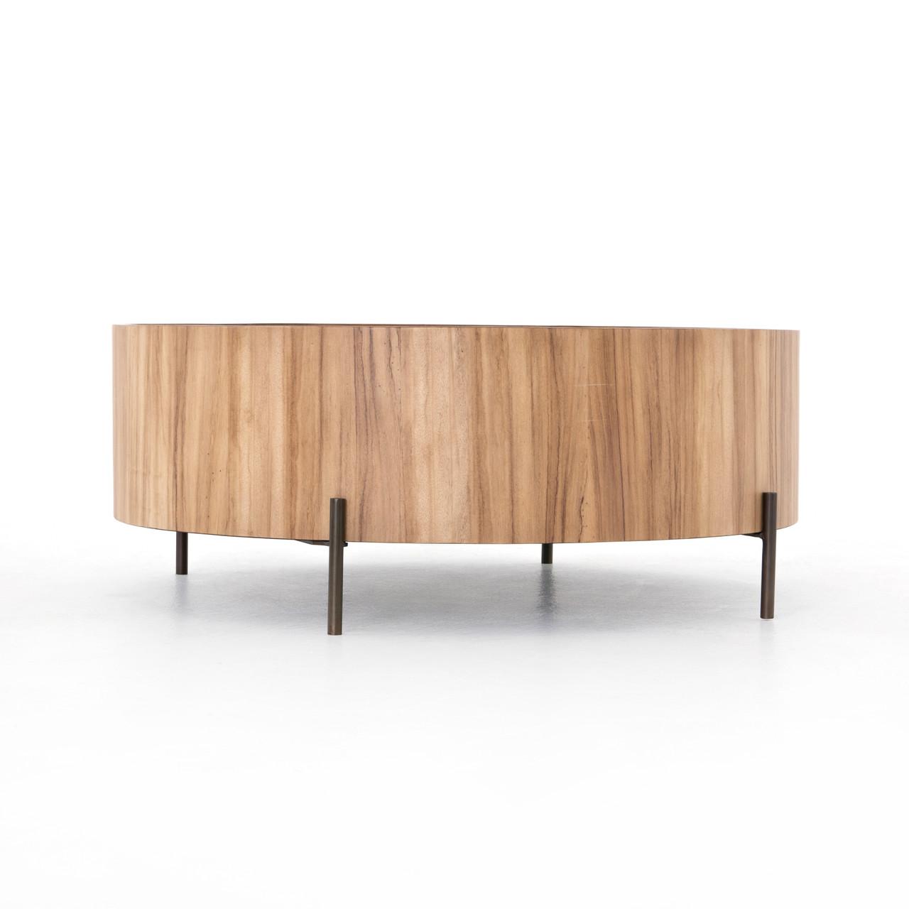 Lunas drum coffee table