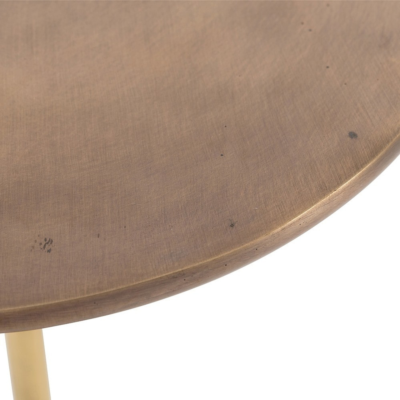 Ibiza Antique Brass Blackened Iron Accent Table