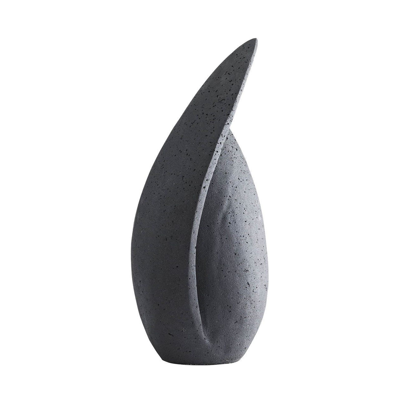 Milano Teardrop Charcoal Black Sculpture