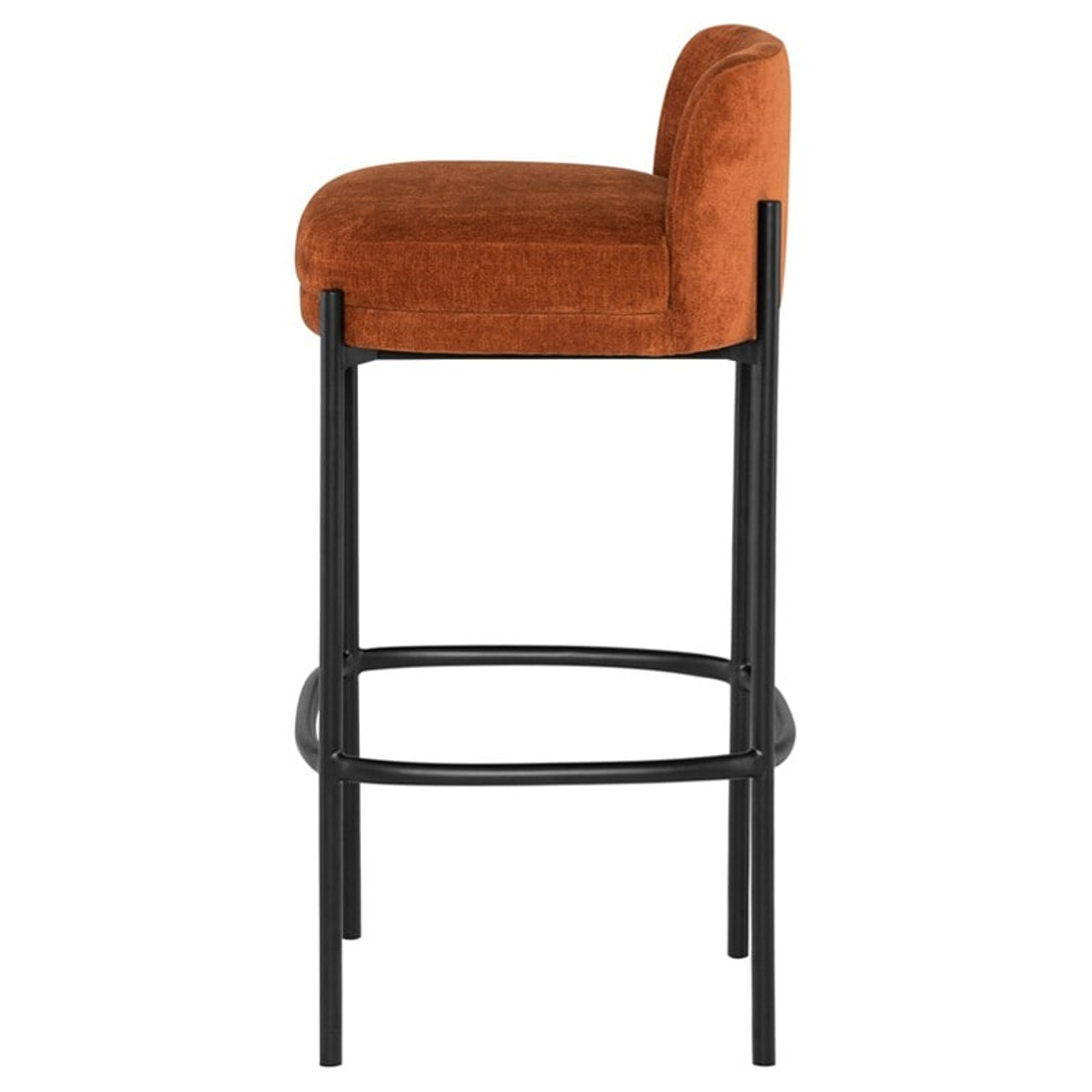 Anna Bar Stool Matte Black Frame