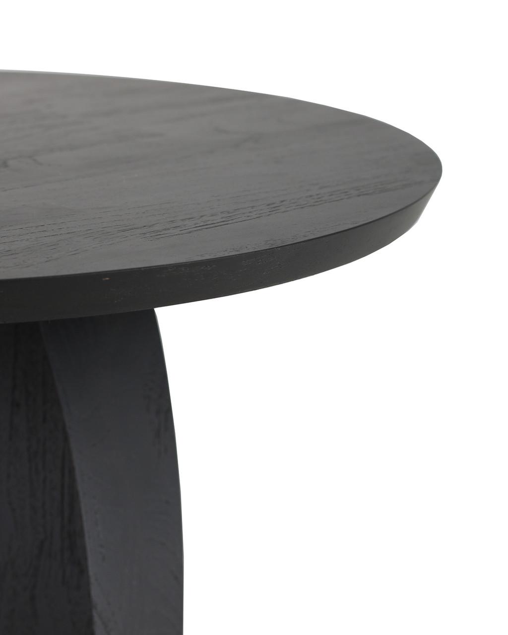 Teak Bau Black Round Side Table