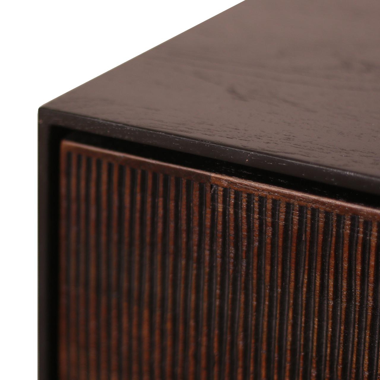 "Teak Grooves Sideboard Media Buffet Cabinet 80"""
