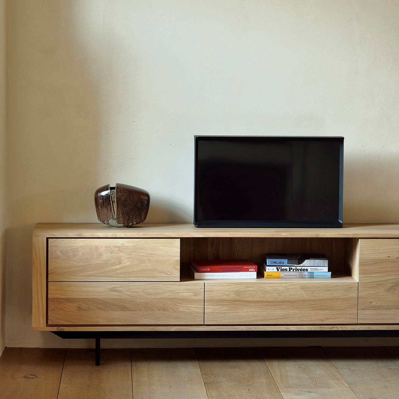 Oak Shadow TV Stand Media Center 71""