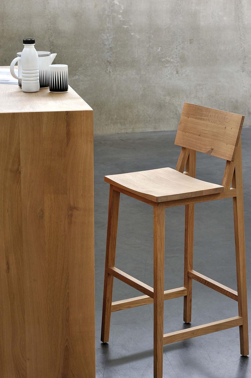 Strut Modern Bar Stool with Backrest