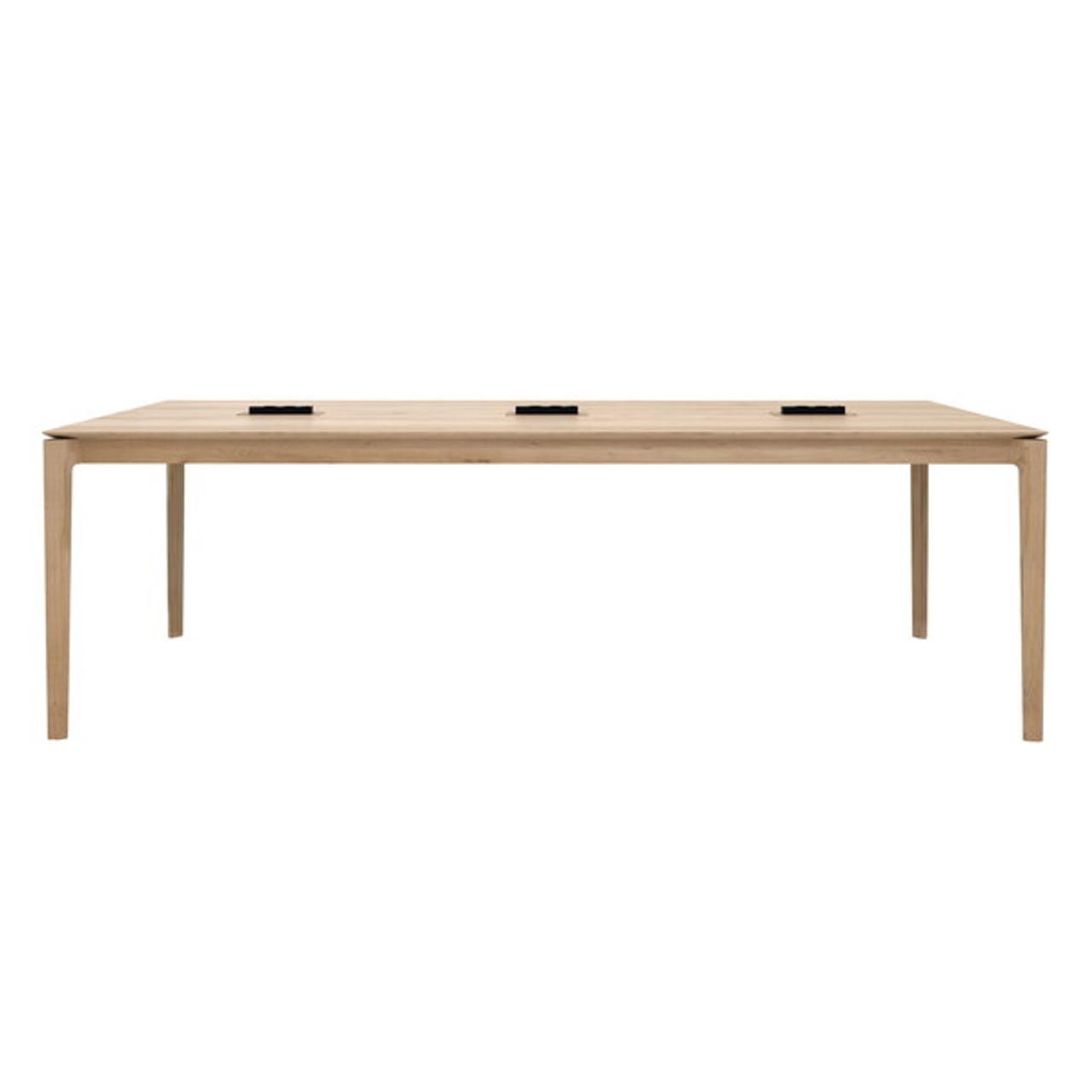 Oak Bok Cowork Desk Communal Table with Power