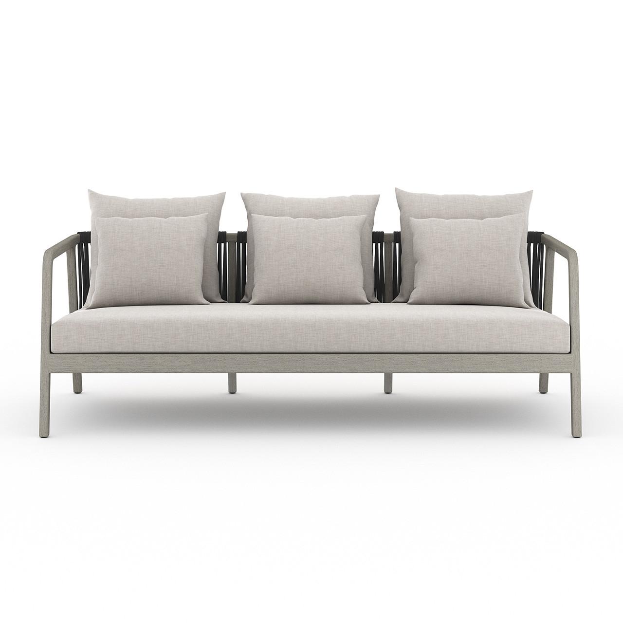 La Palma Teak Outdoor Sofas - Weathered Grey